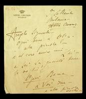 Autograph letter by Eleonora Duse to Angelo Signorelli